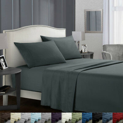 Twin Size Bed Sheets Set Egyptian Comfort Sheets Count Deep Pocket  Fitted - Fitted Sheet Twin Bedding