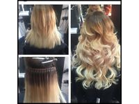NANO RINGS/FLAT TIPS. MOBILE HAIR EXTENSIONS PROVING RUSSIAN HAIR EXTENSIONS AT D COMFY OF YOUR HOME