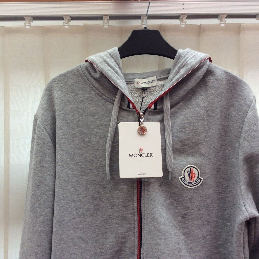 Moncler Hoodie Size Medium Grey New with tags