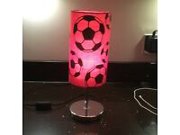 Table Lamp with Football Shade