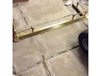 Extendable Brass Hearth Kerb