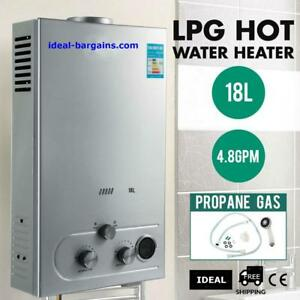 18L 2 GPM Instant Tankless Hot Water Heater LPG Propane Gas Bolier w/ Shower