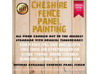 Cheshire FENCE PANEL PAINTING areas covered Runcorn widnes and Warrington