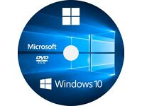 Windows 10 Professional 64Bit Software Disc For Laptops And PCs