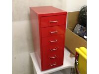 Little red iron cabinet