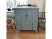 Hand painted vintage cupboard. kitchen cupboard. painted sideboard. painted furniture