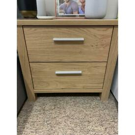 X2 bedside cabinets