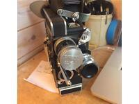 Bolex RX-5 (x13 Viewfinder) + 2xLenses, Light-metre, Film & Bolex Bible