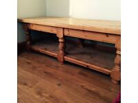 Large antique wooden coffee table in great condition