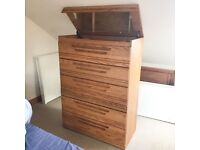 Canadian made, beautiful solid wood flip top chest of drawers.