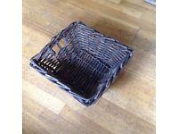 Dark brown wicker basket