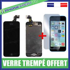 ECRAN LCD + VITRE TACTILE COMPLET SUR CHASSIS IPHONE 5C + VERRE TREMPÉ OFFERT