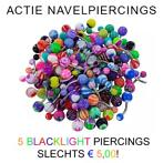 ~ Actie ~ 5 navelpiercings 5 euro | Sparkling navelpiercing