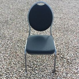 Banqueting chairs. Oval Black and gunmetal steel frame Excellent Condition 44 Available