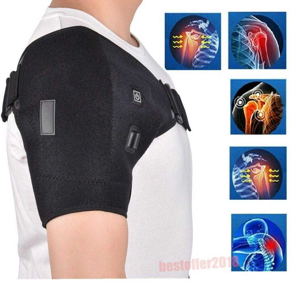 adjustable heating shoulder support brace strap joint