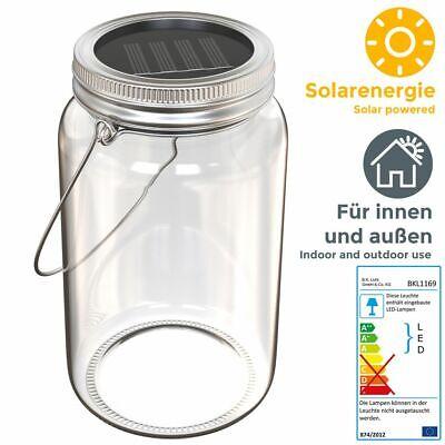 LED Solar-Laterne Lampe Sonnen-Leuchte Licht Deko-Beleuchtung Glas Tisch Garten