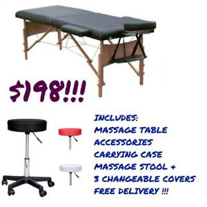 LIMITED TIME OFFER @ WWW.BETEL.CA || Premium Massage Table & Massage Stool Combo|| We Deliver FREE!