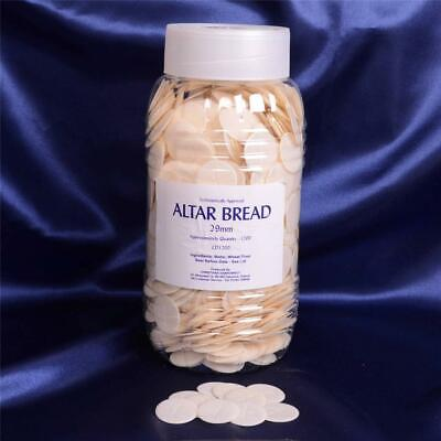 Church Altar Bread - Holy Communion Wafers with Cross Imprint - 1200 Pack