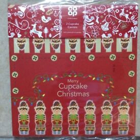 Pair of Elf on the Shelf Christmas Cupcake Boxes **NEW**