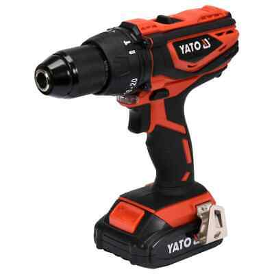 YATO Taladro de Impacto con Batería de Ion-Litio 2,0Ah 18 V 40Nm Garaje Taller