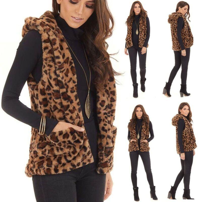 Women Hooded Jacket Cotton Fashion Leopard Print Pockets War