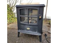 A Dimplex Wood Burning Stove Style Electric Heater Tested Model BFD20 1800-2000 Multi Flame