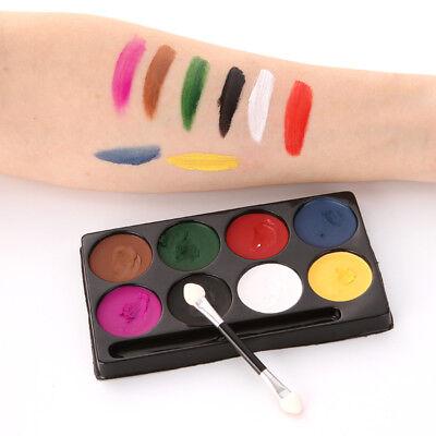 8 Farben Gesicht Körperfarben Fancy Make Up Palette Malerei für Halloween