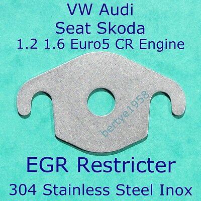 VW AMAROK EGR EXHAUST VALVE BLANKING PLATE 1.5MM 3MM MILD STEEL STAINLESS