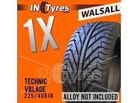 1x 225/40R18 Technic Vblade Sport Tyre Fitting is Available 225 40 18 Tyres