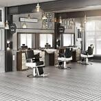 kapsalon set Barber Retro - heren kappersstoel, heren kaptaf