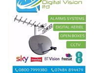 Aerial, satellite TV, genuine zgemma smart boxes. Telephone extentions, CCTV & Alarm systems