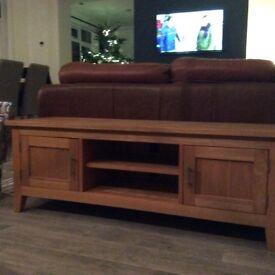 Wooden TV/DVD unit