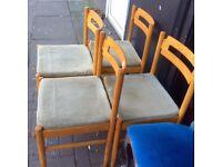 Set of 4 retro chairs