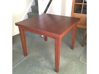 Square extendable dining table with matching sideboard