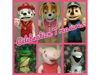 Mascot Costume Hire, Sweetie Cones and Christmas Elf Home Visits