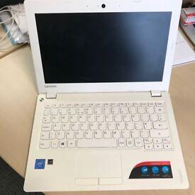 White Lenovo Ideapad 100s, 11.6in screen, Microsoft Office