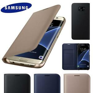 New-Genuine-Leather-Card-Holder-Wallet-Flip-Case-Cover-for-Samsung-Galaxy-Phones