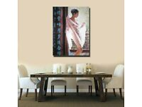 Beautiful Chinese Girls Art Wall Canvas HD Print Poster Oil Painting