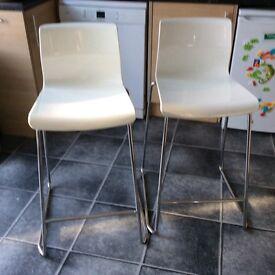 X2 Ikea high bar stools seats chairs