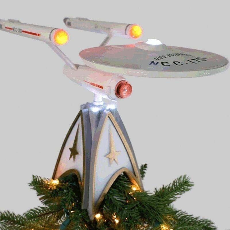 2020 hallmark tree topper Star Trek Enterprise