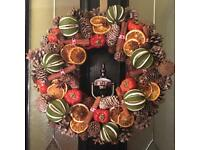 HAND MADE CHRISTMAS GREEN FRUIT WREATHS CHRISTMAS DECORATIONS CHRISTMAS WREATH XMAS TREE