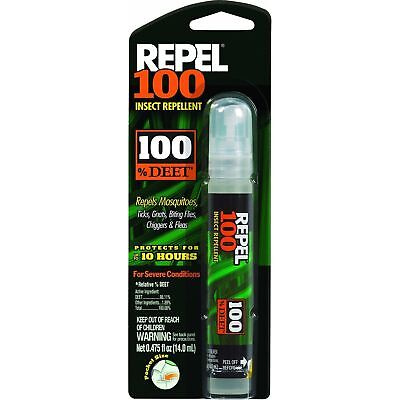 Repel 100 Pen-Size Pump Spray Mosquito Tick Bugs Chiggers Insect Repellent DEET