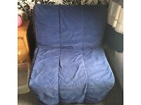 IKEA FUTON - TWO FOR SALE TOGETHER INCLUDING COVERS