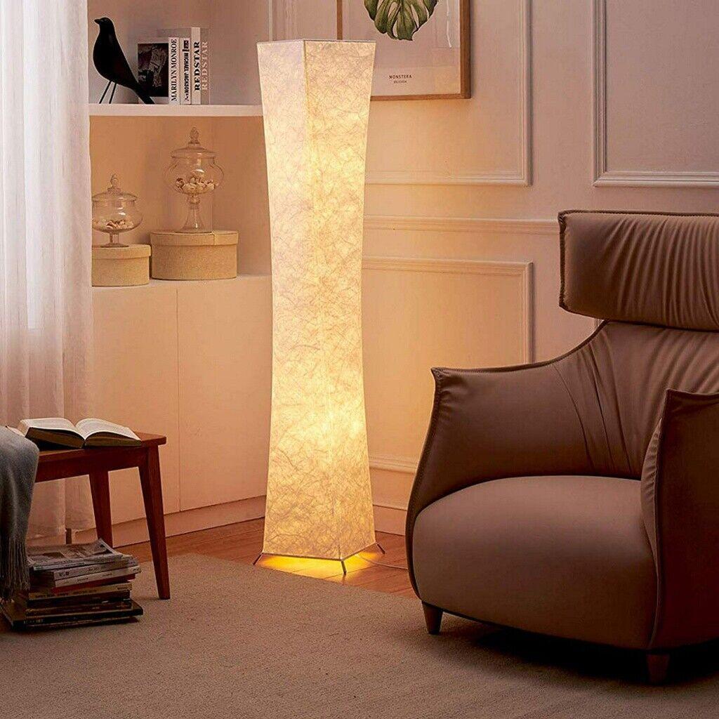 LED Floor Lamp Modern Design Fabric 52''Tall Lamp w/ 2 Bulbs