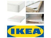 IKEA UK Standard Double Bed Base Divan Engerdal Espevar Sultan With White Cover