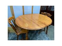 Yugo Canadian Extendable Dining Table & 4 Matching Chairs