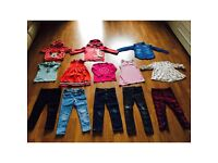 GIRLS DESIGNER CLOTHES BUNDLE AGE 5-6 YEARS