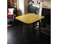 Beautiful Vintage Yellow Drop leaf Table 1950's