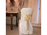 Banqueting Tables, Organza Chair Sashes (2 colours) Table Covers & Sashes