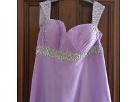 Floor length dress, size 14